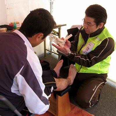 播磨町ロードレース「足の無料トラブル相談所」開設(2011・2012)